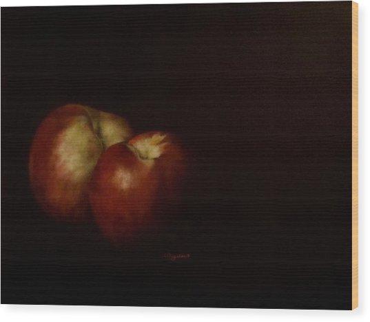 Two Nectarines Wood Print