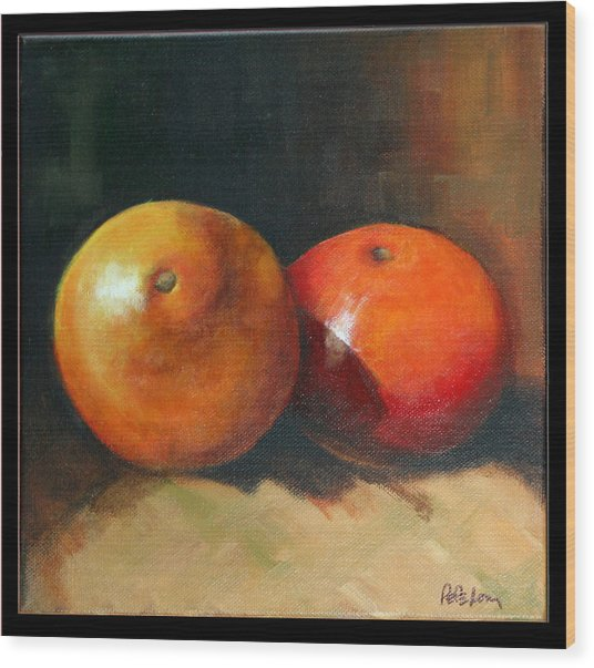 Two Oranges Wood Print by Pepe Romero