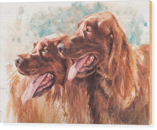 Two Redheads Wood Print