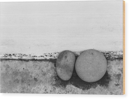 Two Stones - Sao Miguel - Azores Wood Print by Henry Krauzyk