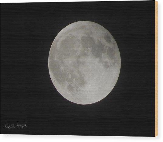 Two-tone Gray Moon Wood Print