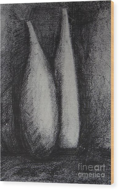 Two Vessels Wood Print by Leila Atkinson