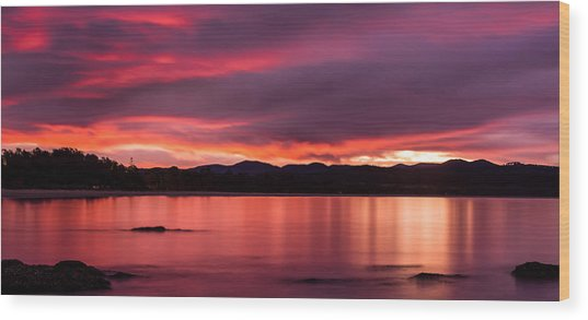 Twofold Bay Sunset Wood Print