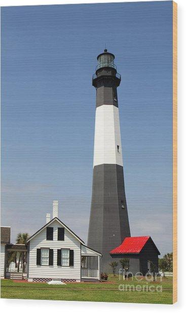 Tybee Lighthouse Georgia Wood Print
