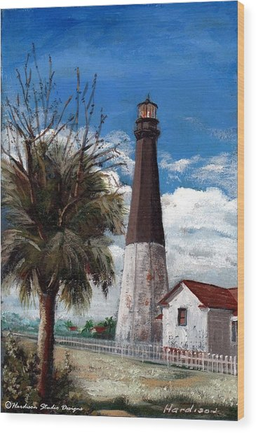 Tybee Lighthouse Wood Print by Robynne Hardison