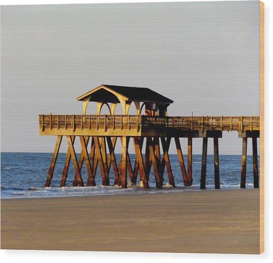 Tybee Pier Wood Print