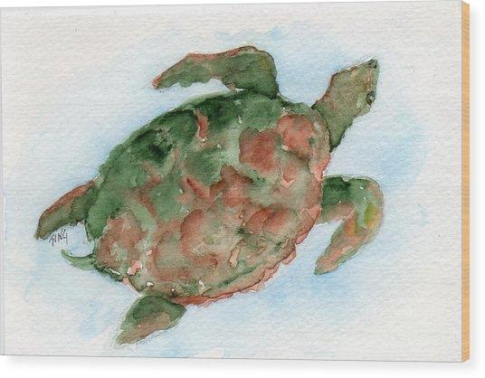 Tybee Turtle Wood Print