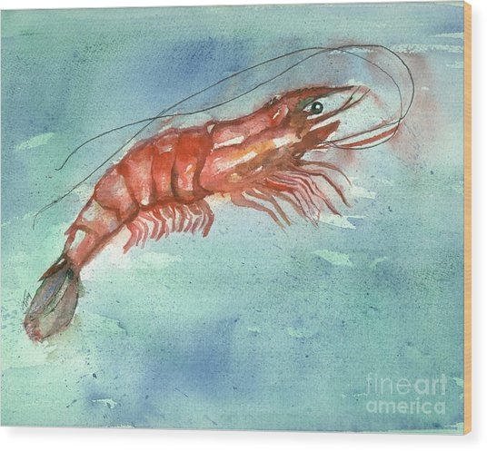 Tybee Wild Shrimp Wood Print