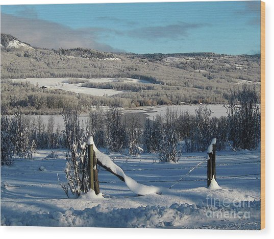 Tyee Lake From Hi-road, Winter Wood Print