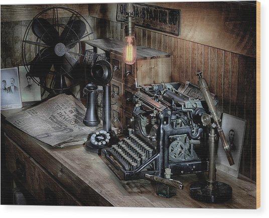 Typewriter Manifesto  Wood Print
