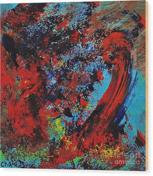 Typhoon Wood Print