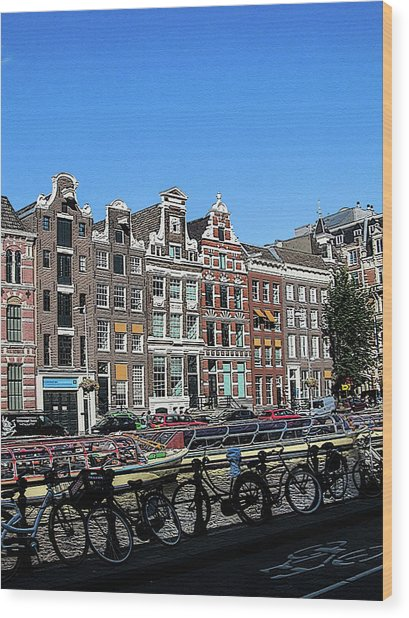 Typical Houses In Amsterdam Wood Print