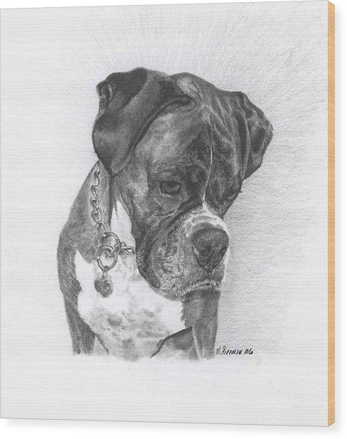Tyson Wood Print by Marlene Piccolin