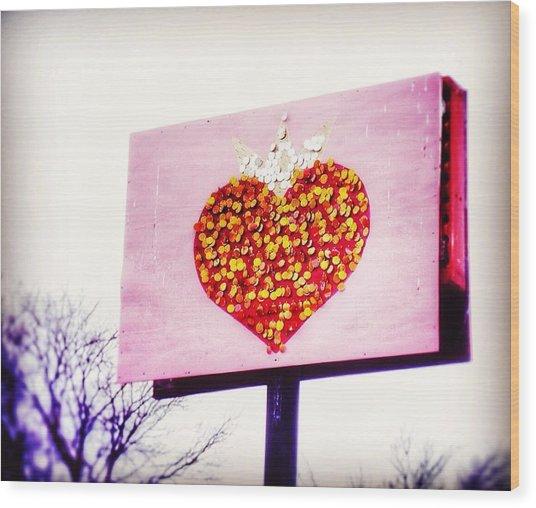 Tyson's Tacos Heart Wood Print