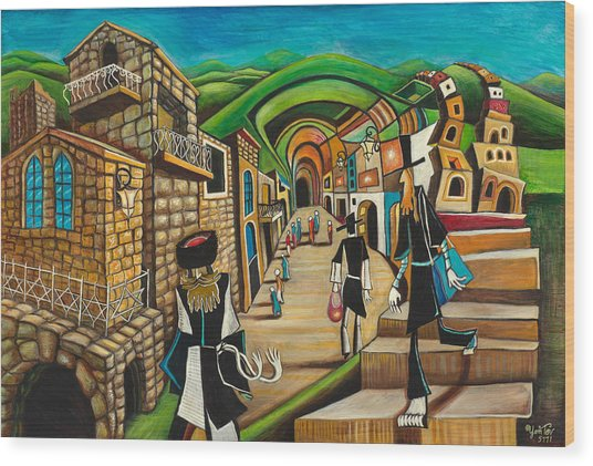 Tzfat The Way I See It Wood Print