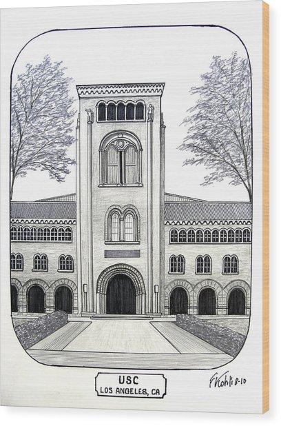 U S C Wood Print by Frederic Kohli
