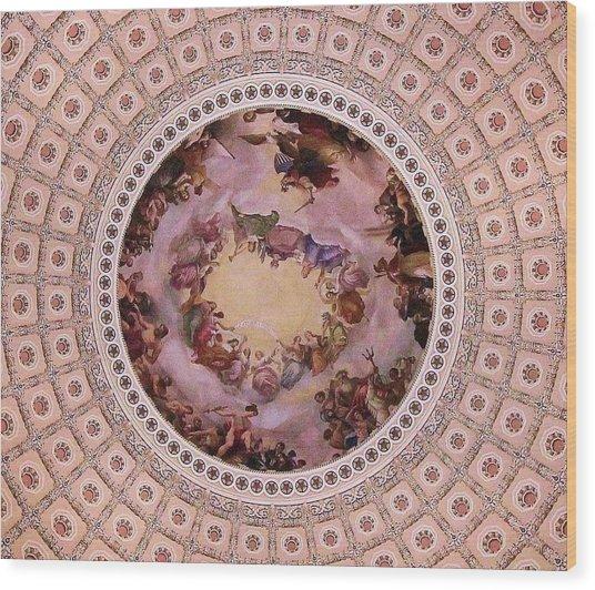 U S Capitol Dome Mural # 3 Wood Print