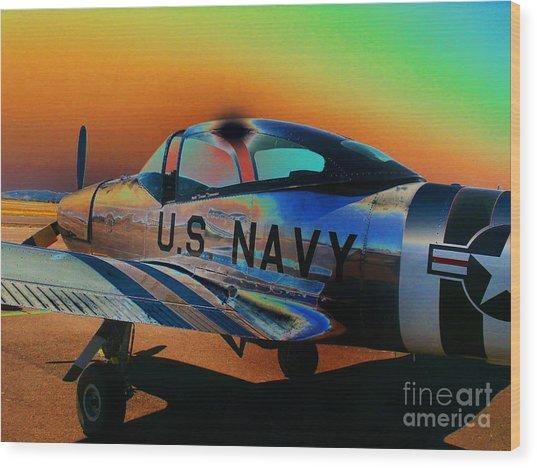 U S Navy  Wood Print by Diane E Berry