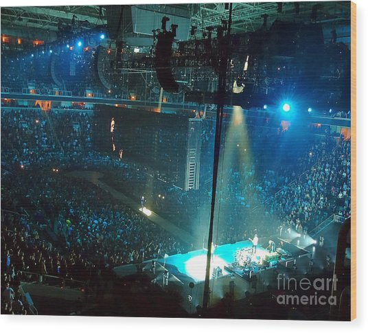 U2 Innocence And Experience Tour 2015 Opening At San Jose. 1 Wood Print