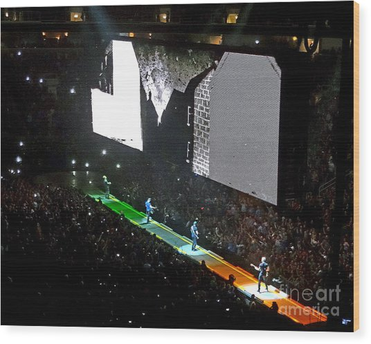 U2 Innocence And Experience Tour 2015 Opening At San Jose. 4 Wood Print