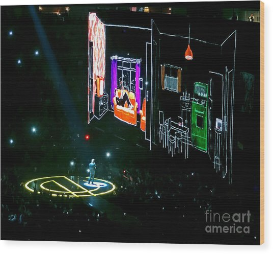 U2 Innocence And Experience Tour 2015 Opening At San Jose. 5 Wood Print