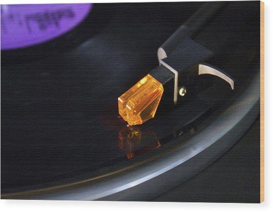 U2  Under A Blood Red Sky Vinyl Wood Print by Darren Burroughs