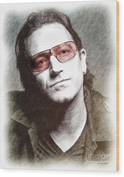 U2's Bono Wood Print