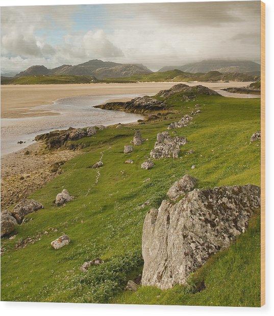 Uig Sands - Isle Of Lewis Wood Print