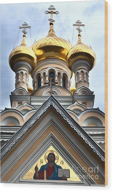 Ukrainian Church Wood Print