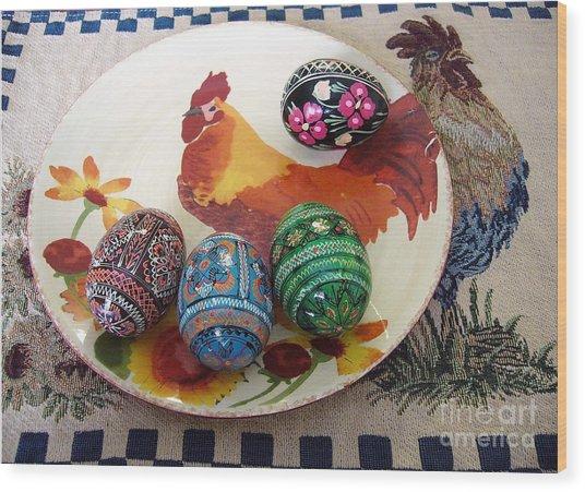 Ukrainian Pysanka Wood Print