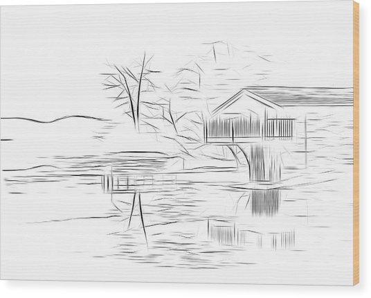 Ullswater Digital Art Wood Print