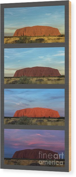 Uluru Sunset Wood Print