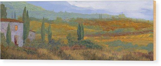 un altro pomeriggio in Toscana Wood Print
