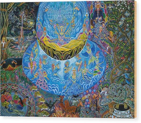 Wood Print featuring the painting Unai Shipash  by Pablo Amaringo