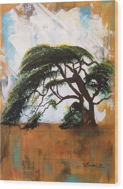 Wood Print featuring the painting Unbreakable by Patti Ferron