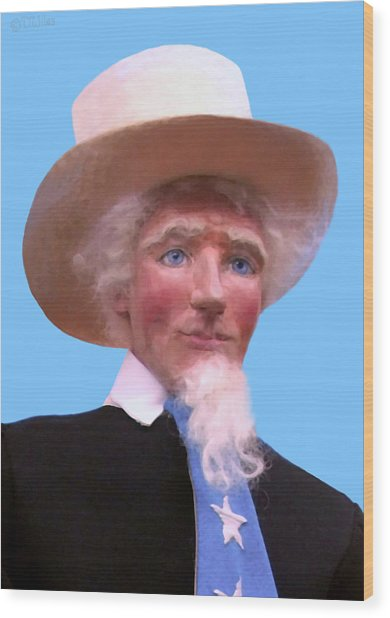 Uncle Sam 2 Wood Print
