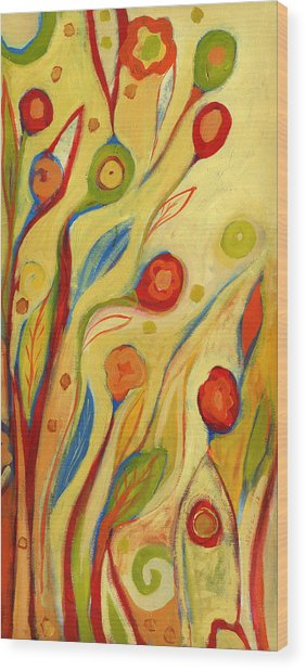 Under A Sky Of Peaches And Cream Wood Print