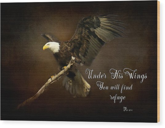 Under His Wings Wood Print