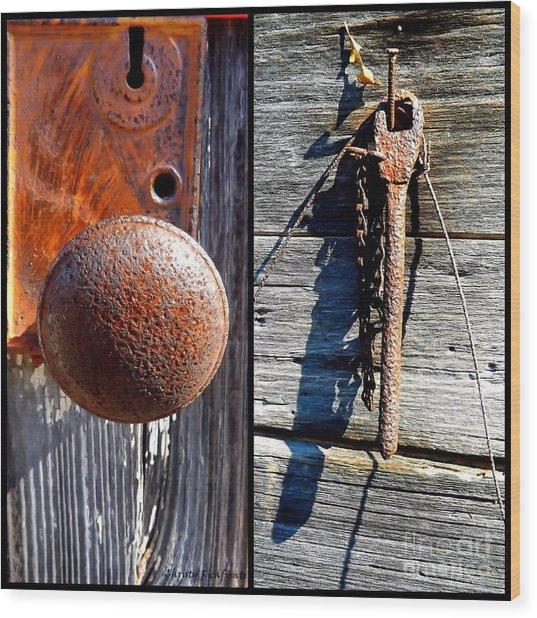 Under Lock And Key Wood Print