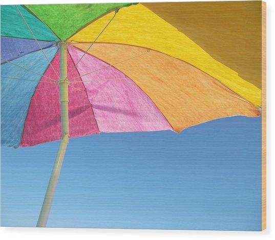 Under My Umbrella Wood Print by Mark Siciliano