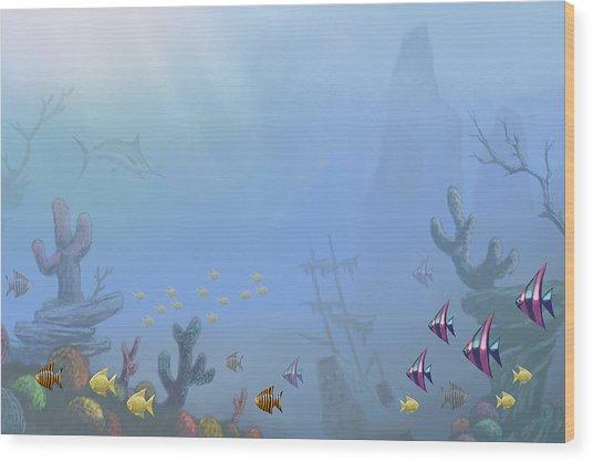 Under Sea 01 Wood Print