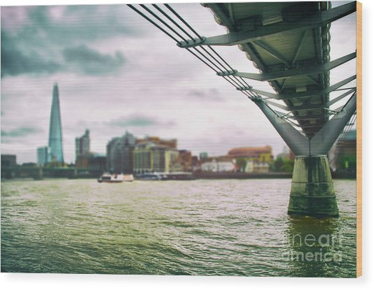 Under The Bridge Wood Print by Alessandro Giorgi Art Photography
