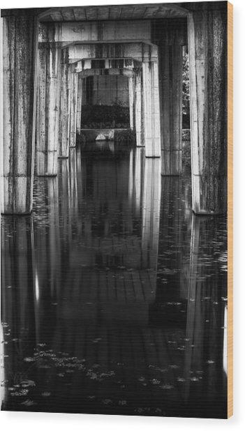 Under The Bridge Wood Print