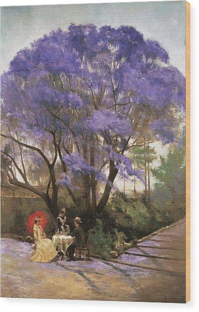 Under The Jacaranda 1903 Wood Print