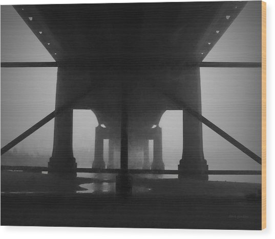 Under The Old Sakonnet River Bridge Wood Print
