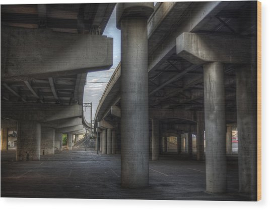 Under The Overpass I Wood Print
