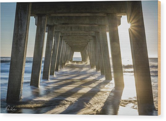 Under The Pier #2 Wood Print