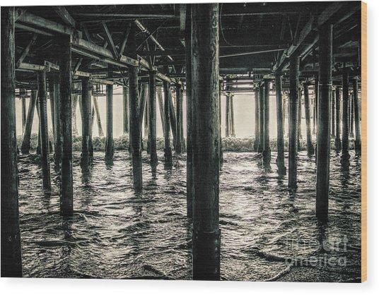 Under The Pier 3 Wood Print