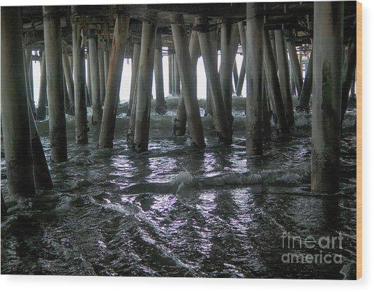 Under The Pier 4 Wood Print