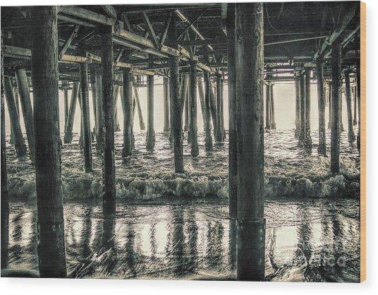 Under The Pier 5 Wood Print
